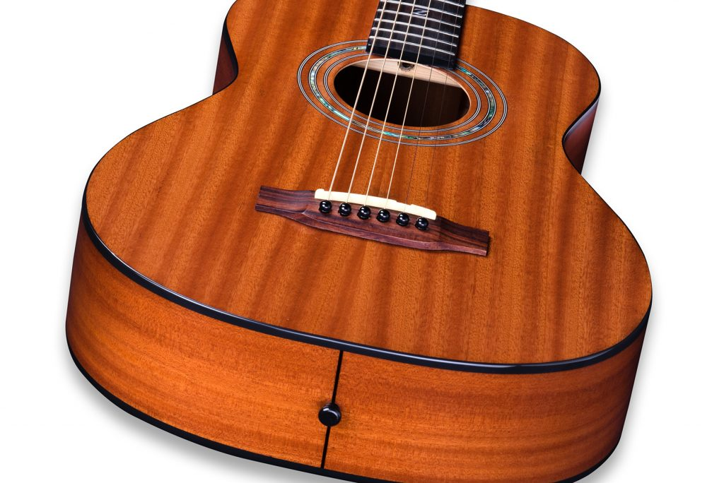 Travel Size Solid African Mahogany Acoustic