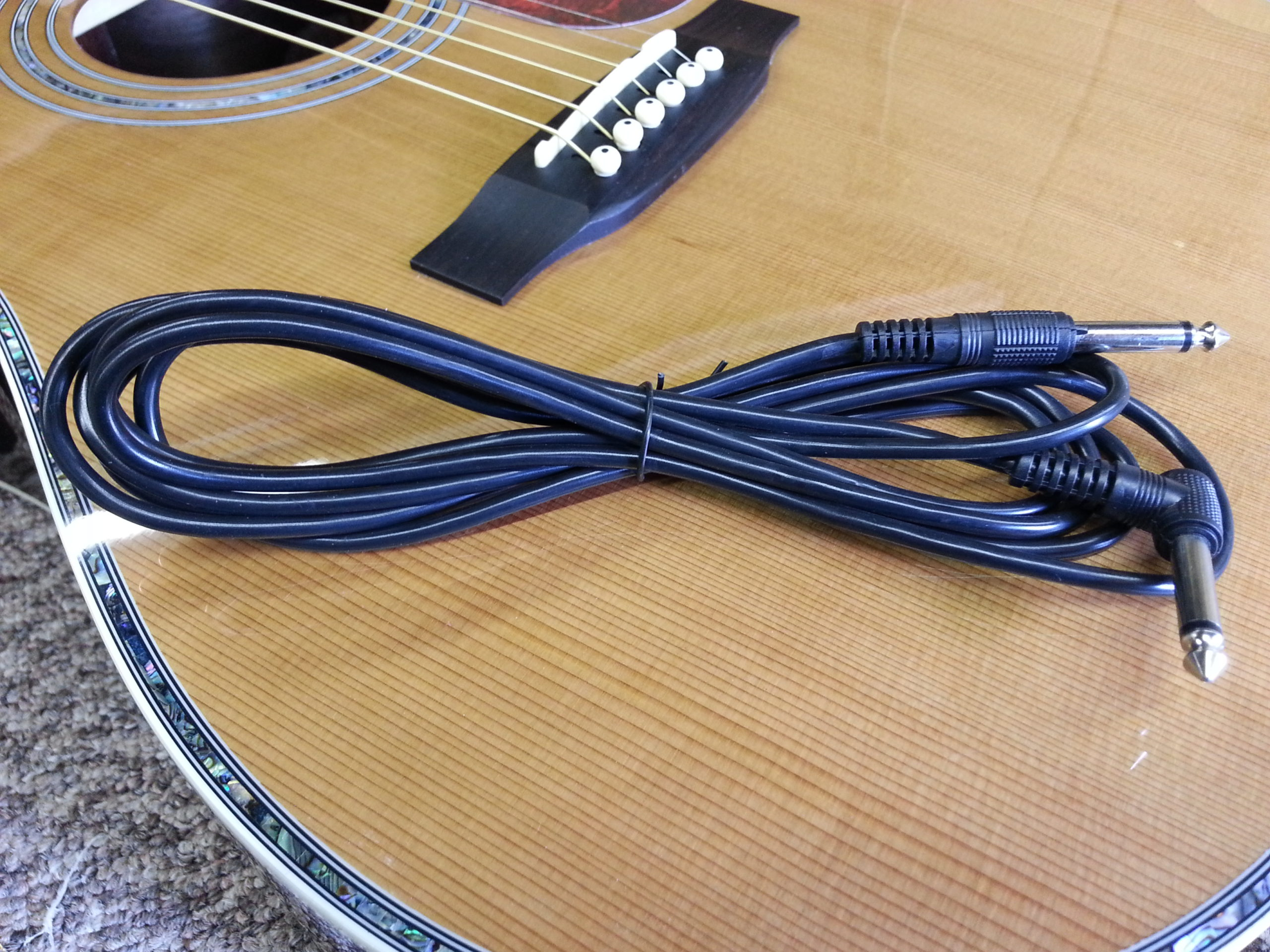 1/4 inch Amplifier Cable
