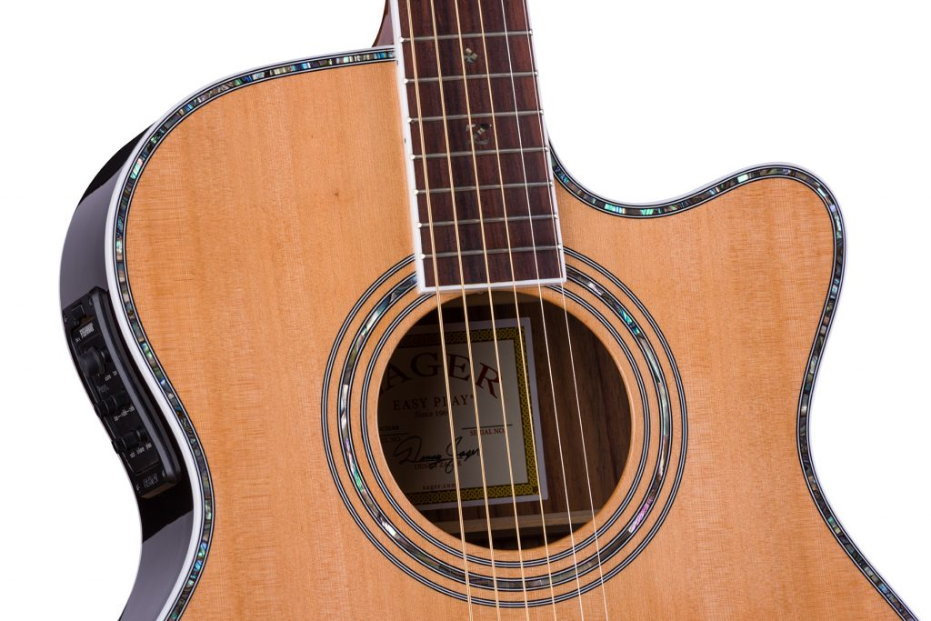 """ZAD80CE Solid Cedar/Rosewood Acoustic Electric Pro Series Smaller """"OM"""" Size"""