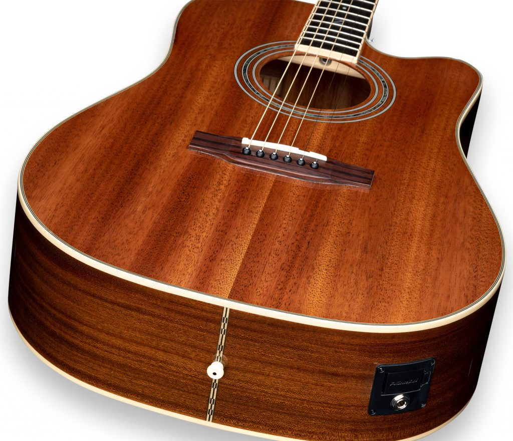 ZAD50CE Solid African Mahogany Acoustic Electric
