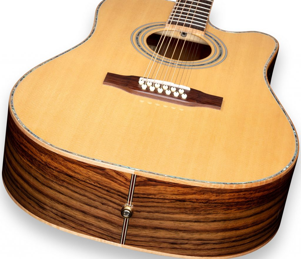 ZAD900CE 12 String Solid Spruce/Rosewood Acoustic Electric AURA Pro Series
